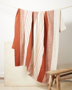 Pantelho Throw Rust + Cream | Blanket | MINNA
