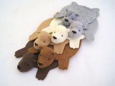 Bear Rug Coasters, Cute!