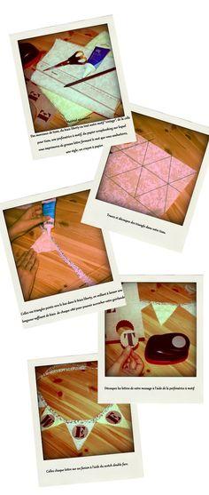 Idée pour faire la guirlande de remerciement   DIY : fanions vintage