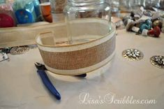 DIY Christmas - Upcycling Glass Jars for Gifts