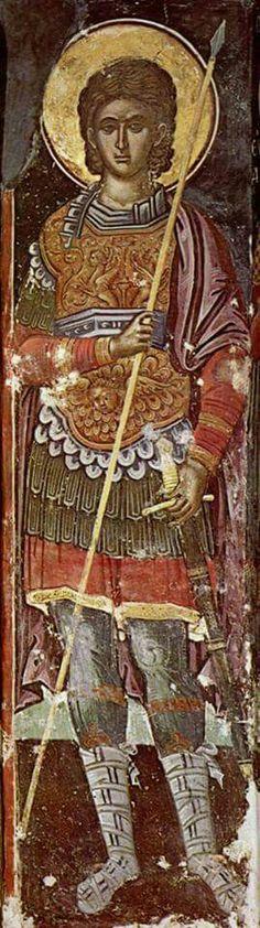Full of Grace and Truth: St. Prokopios the Great Martyr Fresco, Christ The King, Byzantine Art, Sacred Art, Selling Art, Illuminated Manuscript, Saints, Artist, Artwork