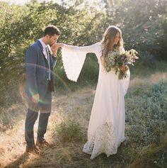 Idéia linda e romântica para o trash the dress