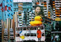 Kenza Pissis Mazari #Photomontage #Collage # HongKong #Tram #Artproject2014 # French International School (Art Secondary) / Lycée Français International (Secondaire) 法國國際學校(中學部,165 Blue Pool Road, Happy Valley, HONG KONG
