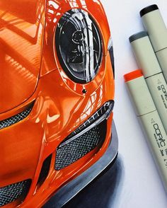 #porsche #911 #gt3 #gt3rs #supersport #gt3car #realisticcardrawing #details #copic #marker #illustration #sketch