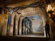 Versailles Intime | Le Petit Théâtre de la Reine | Rough Dreams Set Design Theatre, Stage Design, Photos Fanny, Conception Scénique, A Little Night Music, Chateau Versailles, France Culture, Art Français, Theater