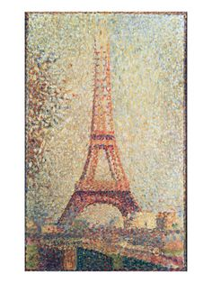 The Eiffel Tower, 1889 (Panel) Giclee Print by Georges Pierre Seurat - AllPosters.co.uk