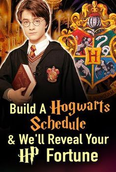 Build a Hogwarts schedule and we'll tell your Wizarding World fortune! What does your Hogwarts crystal ball show? Potter Fun, Hogwarts Classes, Guessing game. What does your Wizarding World future holds?