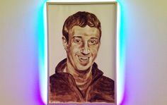 #shitface NYC Street Artist Painted a Portrait of Mark Zuckerberg Using His Own Feces