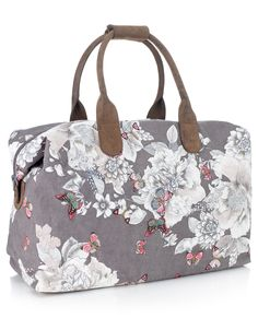 Butterfly Outline Floral Holdall