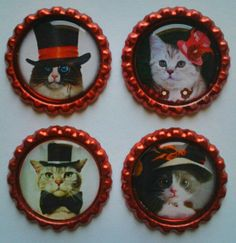 Cute Cat Magnets cat gifts cat lover gifts by Personalizedsite, $6.50