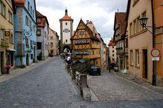 De streetways in Rothenburg_ Germany