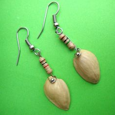 Pistachio shells, etc. FAB KB!!!  Make these trendy jewelry from junk. Surprising materials used !