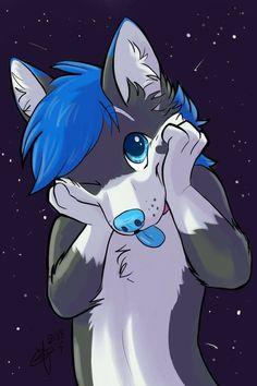 Cutee ❤️💛💚💙💜 Art by Maria Gabi - Furry - Anime Wolf, Anime Cat, Cute Wolf Drawings, Cool Drawings, Furry Art, Furry Wolf, Instagram Logo, Wolves