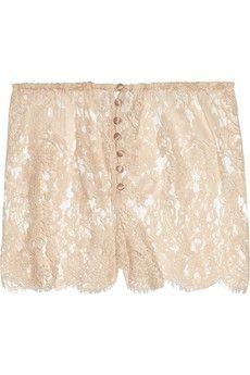Rosamosario|B-Amami lace shorts|NET-A-PORTER.COM - StyleSays