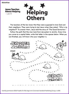 Follow the Path to Find the Good Samaritan - Fun and Games for Kids