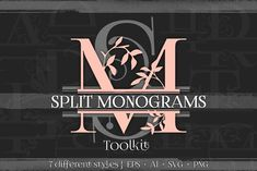 Split Monograms Vector Toolkit by Eclectic Anthology on @creativemarket