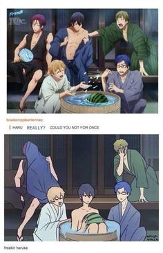 Hahaha!! Haru is just too adorable! He just never can resist!lol #Free!