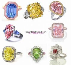 About Natural Fancy Colored Diamonds by Ishay Ben-David Corp. Ishay Ben-David Corp. specializes in natural fancy colored diamonds and colored diamond jewelry including rare pink diamonds, yellow, blue, green, orange colored diamonds and Rings. GIA...