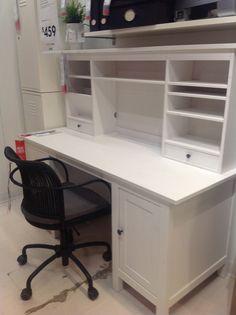 Craft Room Secrets: Ikea vintage white desk.