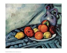 Still Life by Paul Cézanne.  I have this poster framed nicely and it looks great!