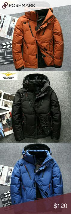 2017 winter High Quality White Duck Down Jacket M/ 165-170cm Suitable for body weight (50kg-6okg)  L/170-173cm Suitable body weight (56kg-70kg)  XL/ 174-175cm Suitable for weight (70kg 80kg)  XL/ 176-180cm Suitable for weight 75kg 85kg) 3XL/ 176-180cm Suitable for weight (bok- 95kg) Asstseries Jackets & Coats Raincoats