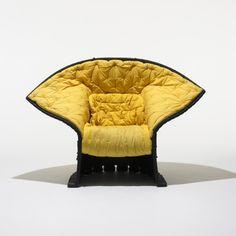 GAETANO PESCE Feltri chair Cassina Italy, 1987 felt, upholstery, rope 56 w x 29 d x 38 h inches