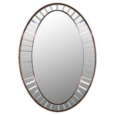 Add depth to your hallway or create a spot to style your hair with this oval mirror, featuring panelled detailing. Product: Mirro...