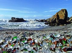 Glass Beach in California - Fort Bragg Beach or simply Glass Beach is one of the weirdest shores on Earth. It is located in MacKerricher State Park, near the military base of Fort Bragg, California. The beach is famous for the tiny glass pieces, that cover the whole shore area. These beautiful glass rocks have been formed by water and sand out of the waste. Most beached were seriously polluted by dumping litter into the Ocean. However, this place is a pleasant exception.