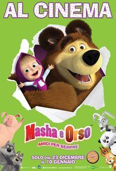 Masha e Orso: Amici per sempre (2015) ANIMAZIONE – DURATA 100′ – RUSSIA Masha è una ragazzina vivace, intelligente, testarda e dall'energia inesauribile. Abita ai margini del bosco e attraverso un sentiero, va a trovare il suo amico, Orso. Orso vive nella sua casa dentro un albero dove, quando non c'è Masha, conduce una vita tranquilla e confortevole…