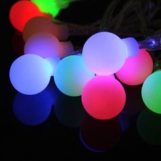 Christmas Lights..LED String Lights, Noza Tec 13ft/4m 100 LED Outdoor String Lights Ball Fairy Light Battery Operated (multi color) * Find out @ http://www.amazon.com/gp/product/B01JIQME8M/?tag=christmas3638-20&pyx=250916102706