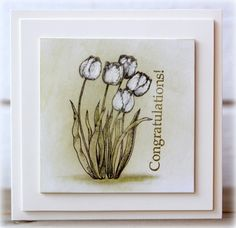 These subtly colored flowers make such a beautiful card.