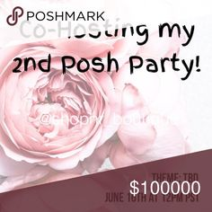 🌸Hosting my 2nd posh party🌸 I'm so excited to be cohosting my 2nd Posh party 🎉 Please help me spread the word and tag your fave Posh PFFs! I'll be looking for host picks from compliant closets. To be considered, please share my closet. Follow us and like this post for updates. xo, Nadia 💋 Nadia Rima Other