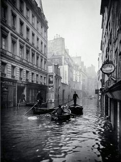 Enchente em Paris, 1910