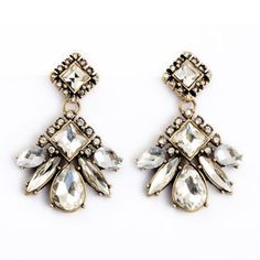 Princess Statement Earrings Beautiful. Such a wonderful vintage look.