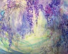 Image result for abstract wisteria painting