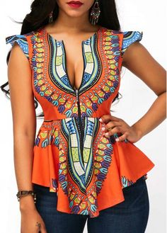 Modern African Fashion Dashiki African Peplum Top - Tap the link to check out some products that you've probably never seen before! Feel free to take advantage of the FREE ITEMS as well ; African Fashion Designers, African Inspired Fashion, African Print Fashion, Africa Fashion, Fashion Prints, African Print Dresses, African Fashion Dresses, African Dress, African Dashiki
