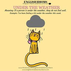 ENGLISH IDIOMS- UNDER THE WEATHER, English Online Lessons with Eva