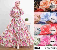 Baju Muslim Modern 364 Crepe Full Klok Cantik - http://bajumuslimbaru.com/baju-muslim-modern-364-crepe-full-klok #BajuMuslimOnline, #ModelBajuMuslim