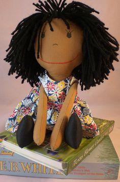 Rag Doll medium skin tone and a mop of black by CuddlesandCurls, $26.00