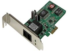 StarTech.com PCI Express (PCIe) Gigabit Ethernet Multimode SC Fiber Network Card Adapter NIC - 550m, As Shown