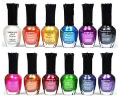 nail polish kit - Kleancolor Nail Polish - Awesome Metallic Full Size Lacquer Lot of Set Body Care / Beauty Care / Bodycare.Comes in bright nail colors (afflink) Metallic Nail Polish, Nail Polish Sets, Best Nail Polish, Nail Polish Colors, Beauty Nails, Beauty Makeup, Makeup Eyes, Manicure At Home, Manicure Ideas
