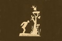 Paper cut showing a man standing in front of a tree out of which grows different characters