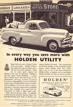 https://flic.kr/p/PmPAfP | 1955 FJ Holden Ute & Panel Van Aussie Original Magazine Advertisement