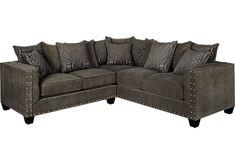 Cindy Crawford Calista Microfiber Sofa In 2019 Living