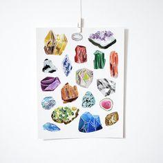 Gemstones, 11x14 print on Etsy, $30.00