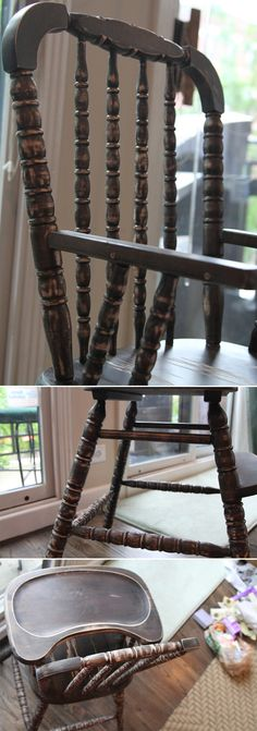 refinishing-a-high-chair-sanding DOING THIS SOON!!! How to SAFELY refinish a High Chair using Baby safe materials! :)
