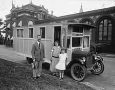Otra preciosidad de los años 1920, esta vez la autocaravana está montada sobre un Chevrolet.