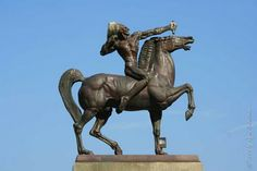 Public Art in Chicago: Grant Park : The Bowman and The Spearman by Ivan Mestrovic..