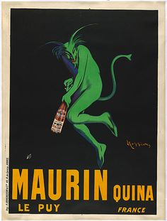 Capiello showing us how to do Brand Image. Maurin Quina Absinthe lead the way to modern communication