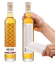 Neige ice cider | A clean and minimalist design was created based around a pattern of snowflakes | packaging